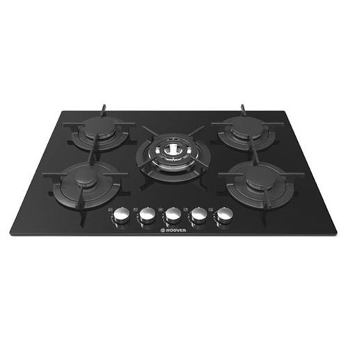 Hoover HGV 75/7550 SQCB 5 Gözü Gazlı Siyah Cam Ankastre Ocak