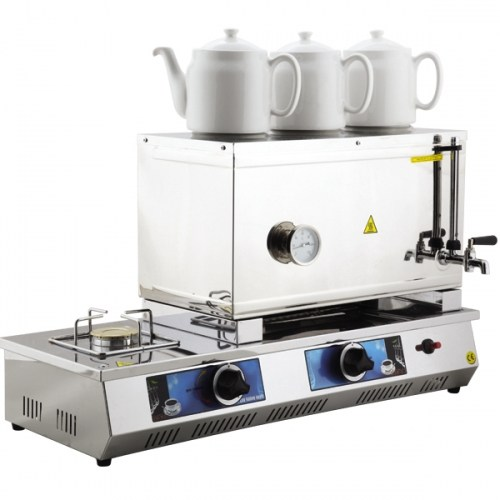 55 Model Üç Demlikli Doğalgazlı Çay Kazanı 33Lt