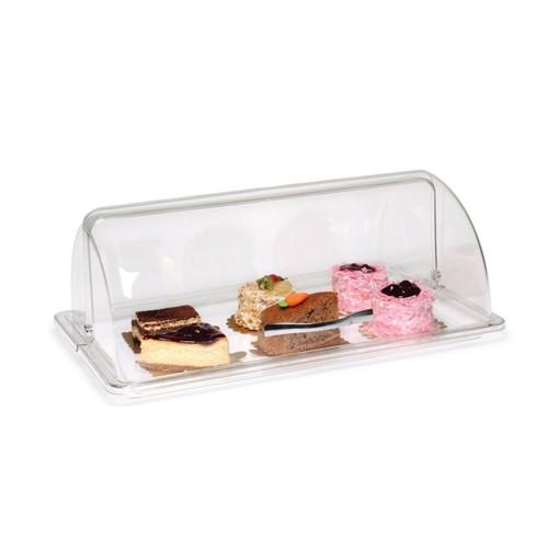Bora Açılır Kapaklı Fanus Kek - Pasta Saklama Kabı Köşeli Sığ Tepsi - Bo 019