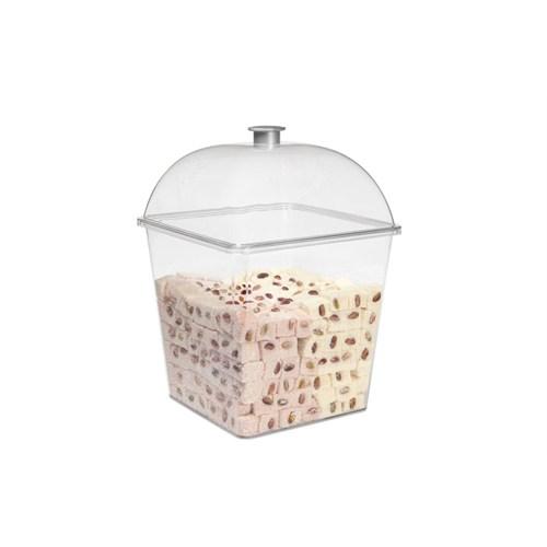 Bora Kare Pasta Kek Kabı Takım Derin Gövde - Kapak Küçük - Bo 360