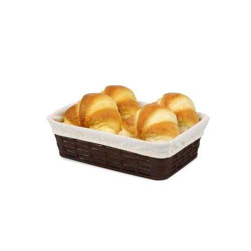 Bora Hasır Desenli Ekmek Sepeti Köşeli Bez Kaplamalı 175X255x72 - Bo 668