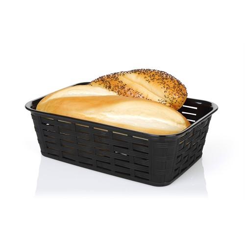 Bora Hasır Desenli Ekmek Sepeti Köşeli - Bo 671