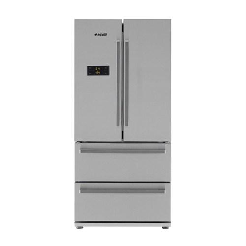 Arçelik 2485 CEI/CEIY A+ 600 Lt Gardrop Tipi Inox NoFrost Buzdolabı