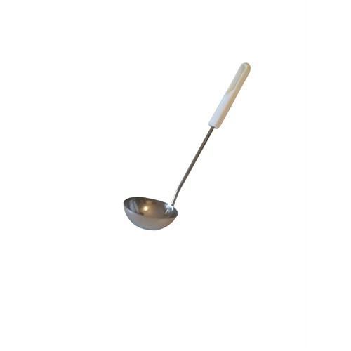 D-Sign Home - Beyaz Saplı Çelik Kepçe