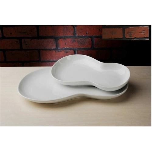 Carat Porselen 2Li Kayık Tabak Fasulye Model