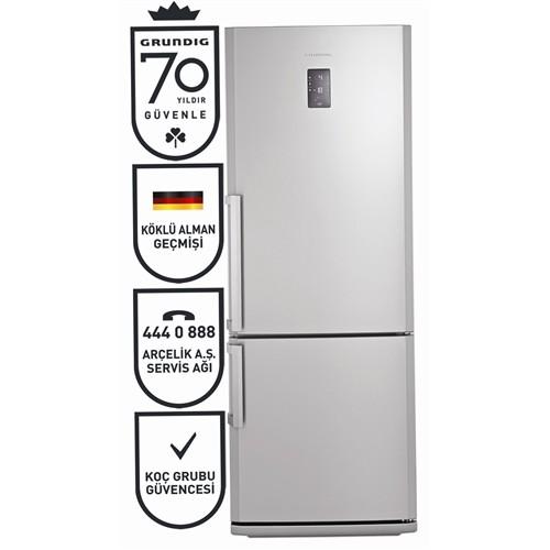 Grundig GKND 4750 I A+ 475 Lt Kombi Tipi NoFrost Inox Buzdolabı