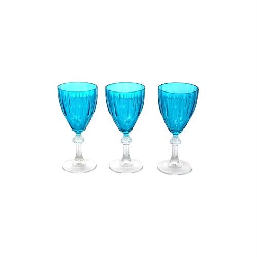 Paşabahçe Ayaklı Bardak 3.Lü Mavi