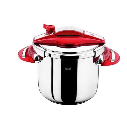 Falez Twist Ve Cook Düdüklü Tencere 7 Lt-Kırmızı