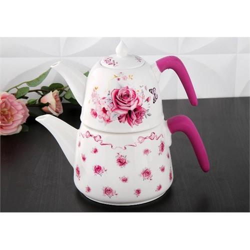 Gönül Porselen Porselen Silikon Tutacaklı Çaydanlık G1212