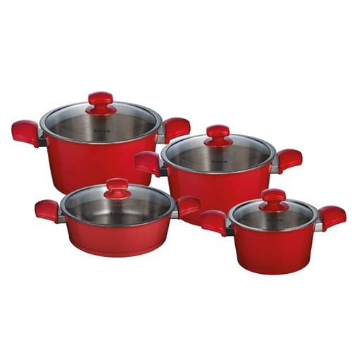 Falez Renador 8 Parça Çelik Seti-Kırmızı