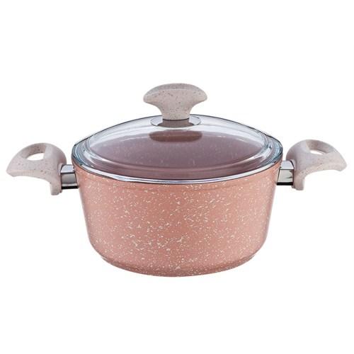 Falez Pinky Granit Derin Tencere 24 Cm