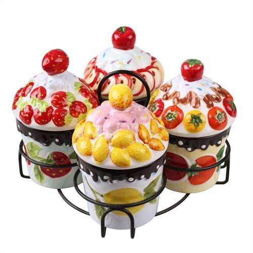 Thanx Co Cupcake 4'Lü Kavanoz Seti