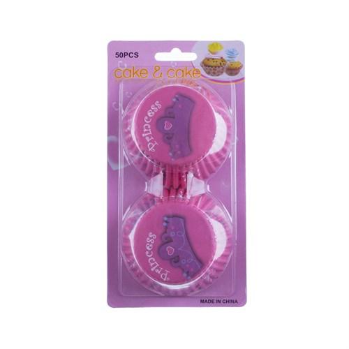 KullanAtMarket Princess Pembe Muffin Seti 50 Adet