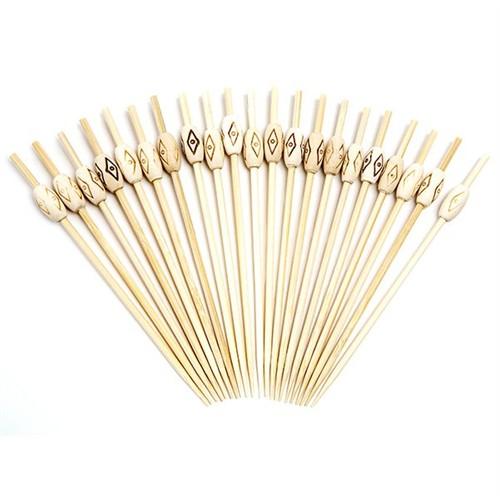 Dolco Gold Bambu Tahta Boncuklu Kürdan 12 Cm, 100 Ad/Paket