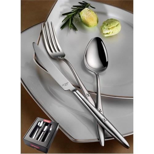 Aryıldız Bijoux Serisi Elegant Mat 18 Parça Yemek Takımı