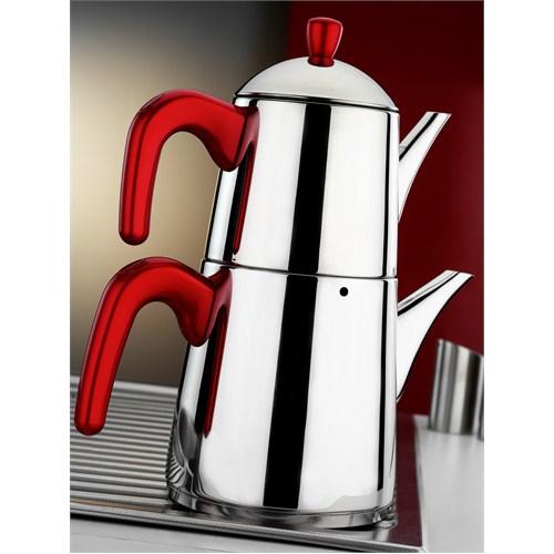 Aryıldız Viole Plus Red Büyük Çaydanlık Takım