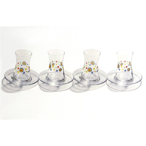 Paşabahçe Heybeli Desenli Çay Set 4 Lü