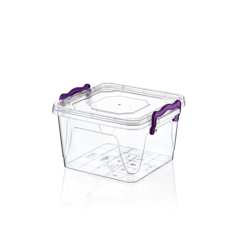 Hobby Life Plastik 1,2Lt Kare Multi Box 6 Lı Saklama Kabı