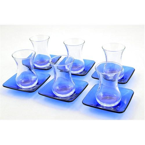 Paşabahçe Kobalt Mavi 12 Parça Çay Seti