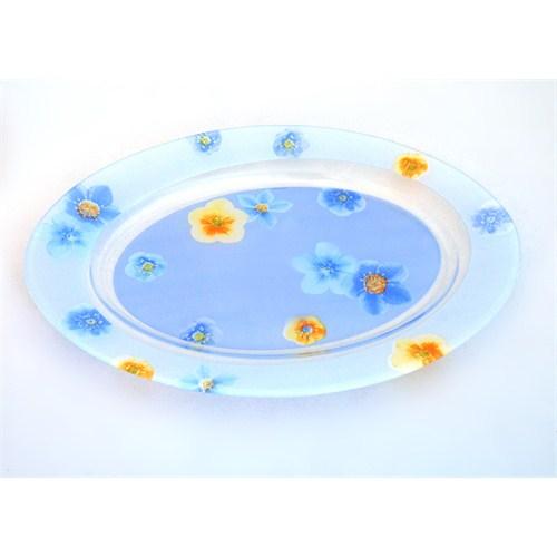 Lumınarc Poeme - Blue Oval Servis Tabağı 35 Cm
