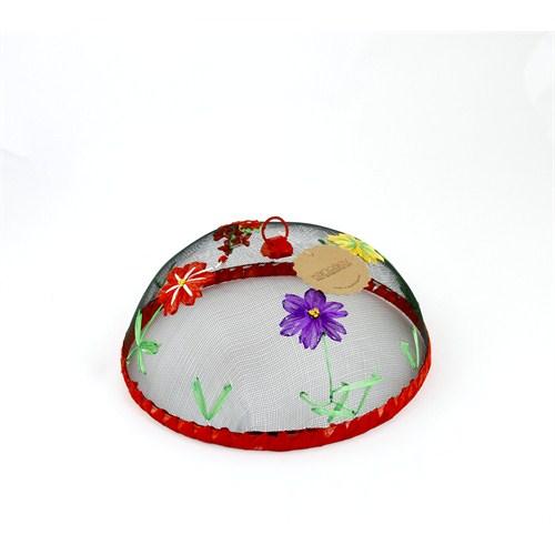 Kancaev Sineklik Kırmızı Bordürlü Çiçekli Küçük