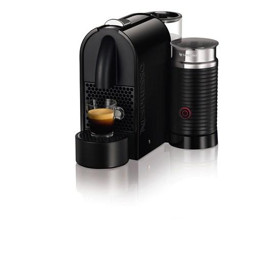 Nespresso U D55 Kahve Makinesi - Black + Süt Köpürtme Cihazı
