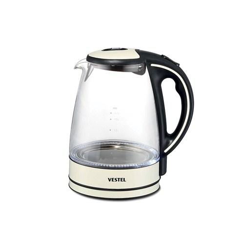Vestel V-Brunch 2000 Glass Su Isıtıcı Krem