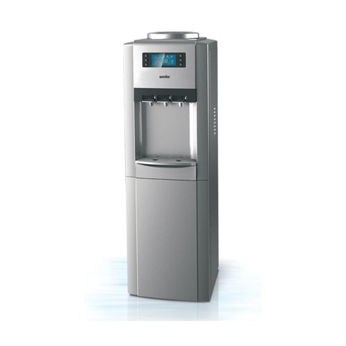 Simfer SB2606 3 Musluklu,Saklama Dolaplı ve Dijital Ekranlı Su Sebili Gümüş Renk