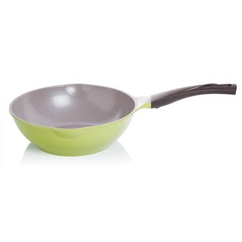 Cheftopf Yeşil 26 Cm Wok Tava