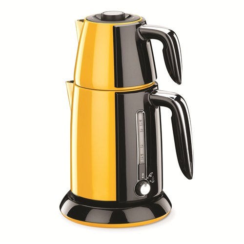 Korkmaz A 347-04 Tek Çay Elektrikli Çaydanlık Sarı/Siyah