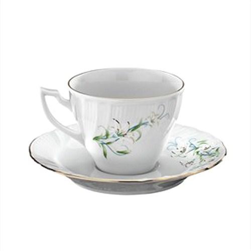 Kütahya Porselen Diana Çiçekli 6 Kişilik Porselen Kahve Takımı