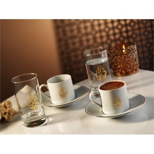 Kütahya Porselen Harem 6 Parça Kahve Takmı