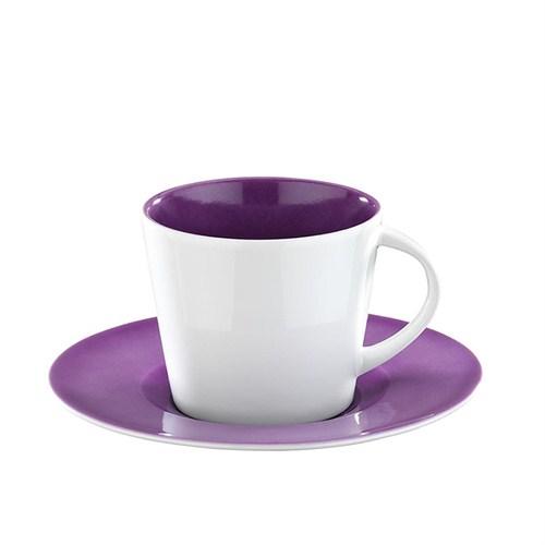 Kütahya Porselen Toledo 6 Kişilik Mor Renk Çay Takımı