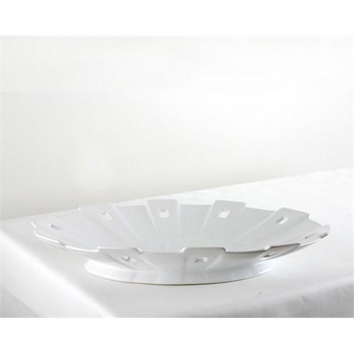 Kancaev Porselen Çıkıntılı Oval Servis Tabağı Orta