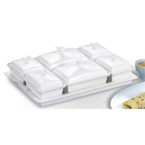 Gönül Porselen Kelebek Tutacaklı Kahvaltılık G927