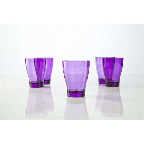 Plabar Kırılmaz Su Bardağı (Mor) 6Lı