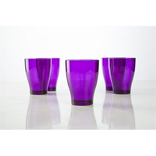 Plabar Kırılmaz Büyük Su Bardağı (Mor) 6Lı