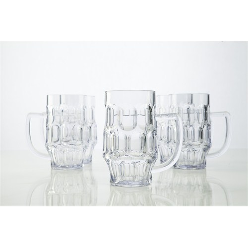 Plabar Kırılmaz Saplı Bira Bardağı 12Li