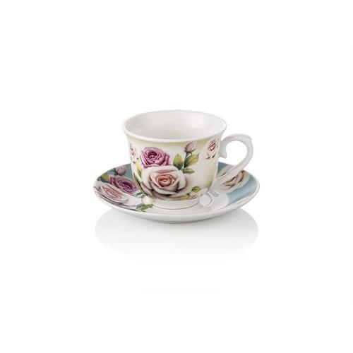Noble Life Blue Rose Kahve Fincan Seti 6 Kişilik - 15793