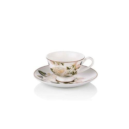 Noble Life White Rose 6 Kişilik Kahve Fincanı Seti - 17346