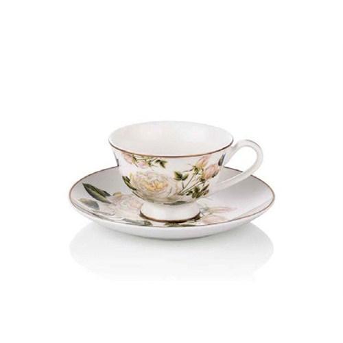 Noble Life White Rose 6 Kişilik Çay Fincanı Seti - 17308