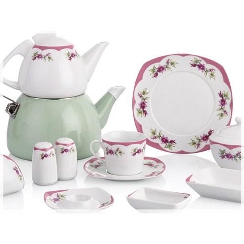 Noble Life Pink Garden 46 Parça Porselen Kahvaltı Takımı - 13775