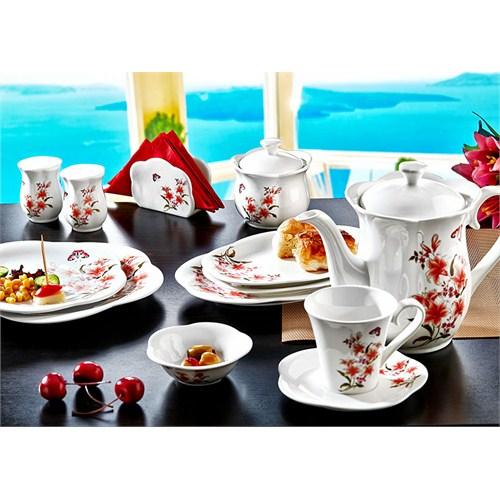 Noble Life Yasemin 38 Parça Porselen Kahvaltı Takımı - 16462