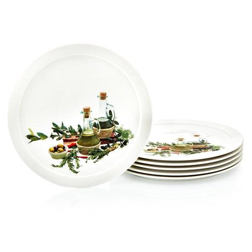 Noble Life Olive 6 Adet Pasta Tabağı - 19524