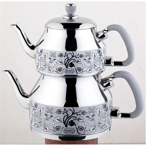 Özkent K-331 Symbol Mini Desenli Çaydanlık Gri