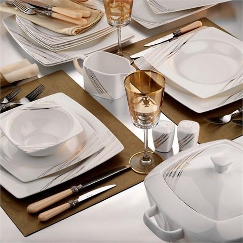 Kütahya Porselen Aliza Bone 12 Kişilik 83 Parça 25100 Desenli Yemek Takımı
