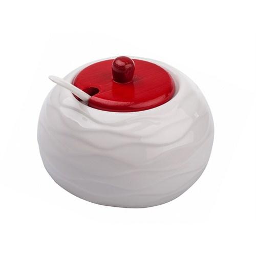 iHouse 5657 Kaşıklı Baharatlık Beyaz