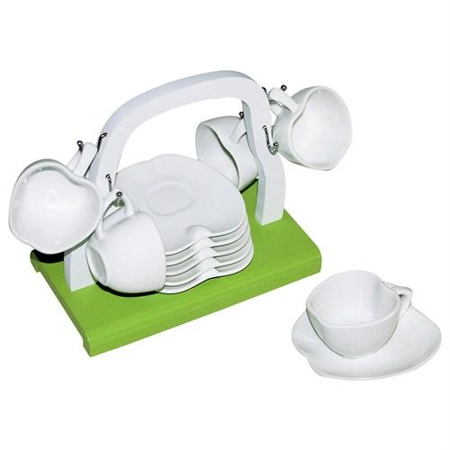 iHouse 5690 Seramik Fincan Seti Beyaz