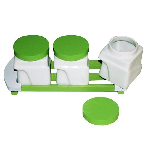 iHouse 5705 Seramik Baharat Seti Beyaz