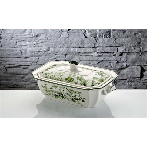 iHouse Rx05 Porselen Fırın Kabı Yeşil